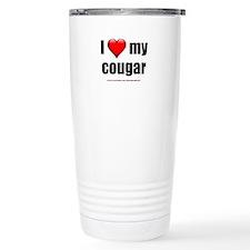 """""""I Love My Cougar"""" Thermos Mug"""