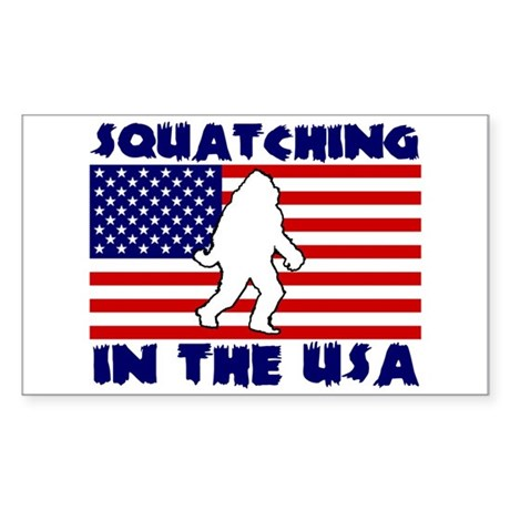 Squatching in the USA Sticker (Rectangle)