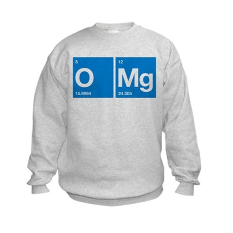 Oxygen Magnesium Periodic Table OMG Kids Sweatshir