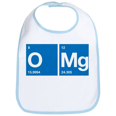 Oxygen Magnesium Periodic Table OMG Bib