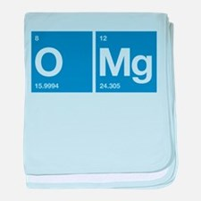 Oxygen Magnesium Periodic Table OMG baby blanket