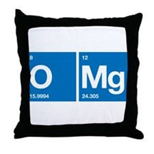 Oxygen Magnesium Periodic Table OMG Throw Pillow