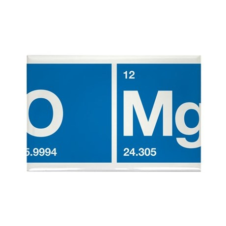 Oxygen Magnesium Periodic Table OMG Rectangle Magn