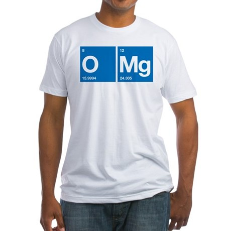 Oxygen Magnesium Periodic Table OMG Fitted T-Shirt