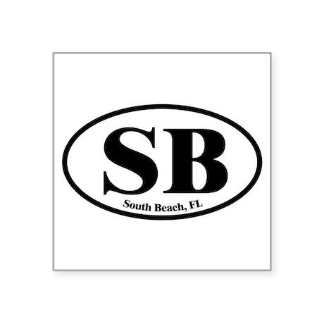 South Beach SB Euro Oval Oval Sticker