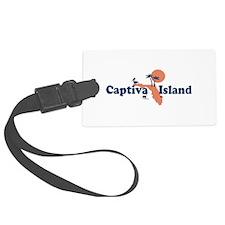 Captiva Island - Map Design. Luggage Tag