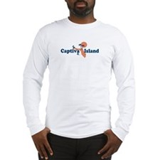 Captiva Island - Map Design. Long Sleeve T-Shirt