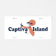 Captiva Island - Map Design. Aluminum License Plat