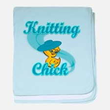 Knitting Chick #3 baby blanket