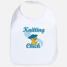 Knitting Chick #3 Bib