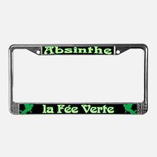 Absinthe La Fee Verte License Plate Frame