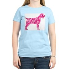 Wirehaired Pointing Griffon Women's Pink T-Shirt