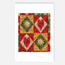 Heart Patchwork Love Quilt Postcards (Package of 8
