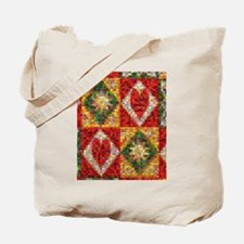 Heart Patchwork Love Quilt Tote Bag