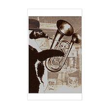 Double-belled euphonium Rectangle Decal