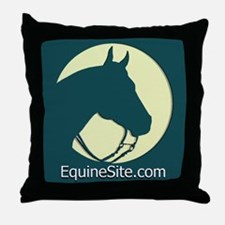 EquineSite.com Quarter Horse Throw Pillow