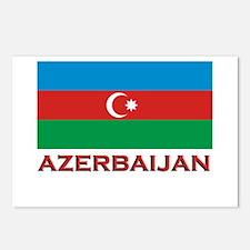Azerbaijan Flag Merchandise Postcards (Package of