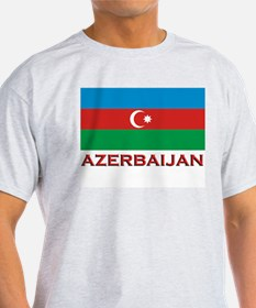 Azerbaijan Flag Merchandise Ash Grey T-Shirt