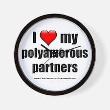 """Love Polyamorous Partners"" Wall Clock"