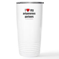 """Love Polyamorous Partners"" Travel Mug"