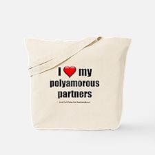 """Love Polyamorous Partners"" Tote Bag"