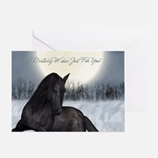 Equine Horse Birthday Greeting Card