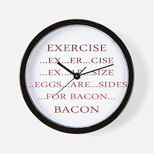 Exercise ... Bacon Wall Clock