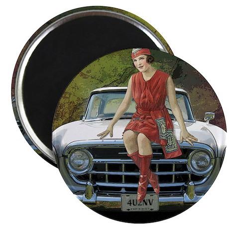 "Fashion Model Antique Car 2.25"" Magnet (10 pa"