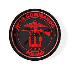 No. 10 Commando ZB B (Red) Wall Clock