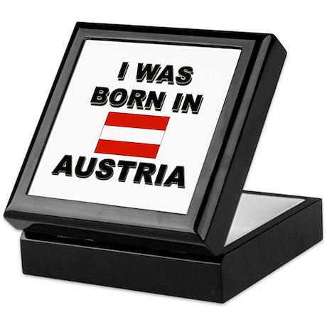 I Was Born In Austria Keepsake Box