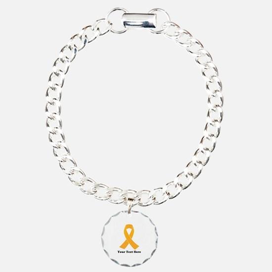 Gold Ribbon Awareness Bracelet