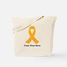 Gold Ribbon Awareness Tote Bag