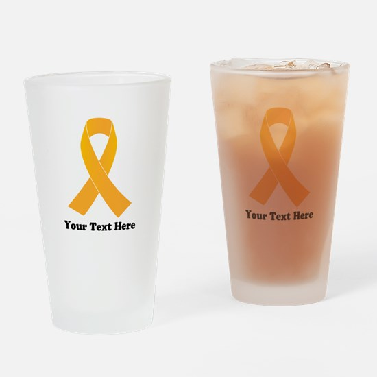 Gold Ribbon Awareness Drinking Glass