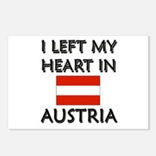 I Left My Heart In Austria Postcards (Package of 8