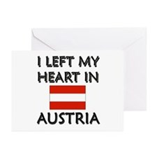 I Left My Heart In Austria Greeting Cards (Package
