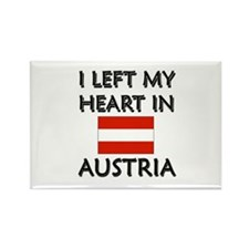 I Left My Heart In Austria Rectangle Magnet