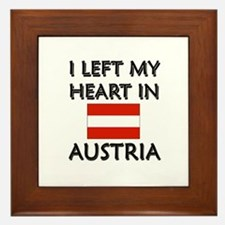 I Left My Heart In Austria Framed Tile