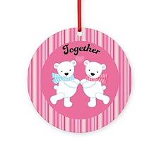 Polar Bears Couple Together Ornament