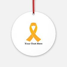 Gold Ribbon Awareness Round Ornament