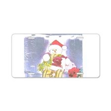 Snowman Wrapper Two. Aluminum License Plate