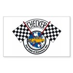 Checker Club Rectangle Sticker