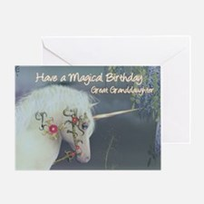 Great Granddaughter Birthday Card with Unicorn