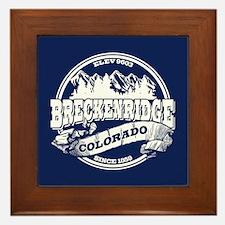 Breckenridge Old Circle White Framed Tile