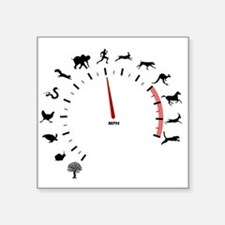 "animal speed Square Sticker 3"" x 3"""