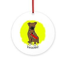 Innocent Patterdale Terrier Ornament (Round)