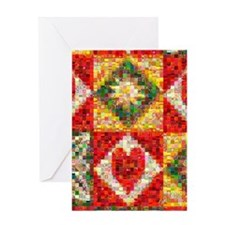 Heart Patchwork Love Quilt Greeting Card