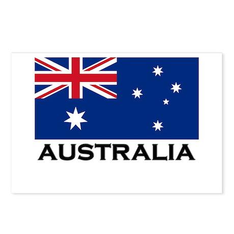 Australia Flag Stuff Postcards (Package of 8)