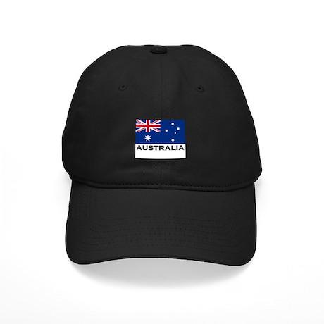Australia Flag Stuff Black Cap