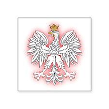 Polish White Eagle 2 Rectangle Sticker
