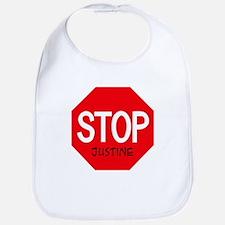 Stop Justine Bib